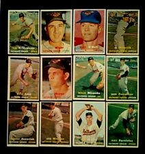 Baltimore Orioles, 1957 Topps, Lot Of 12, Lesser Condition, Fronts Great, WOB