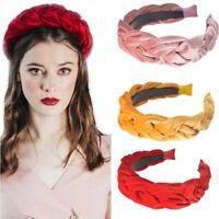 Hairband Accessories High-grade Women's Band Velvet Hoop Headband Hair Braided