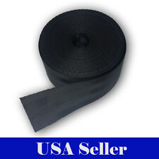 "5 Yards 2"" 5 cm Seat-belt Black Polyester Webbing Strap Repair 5 Panel 5000 lbs"