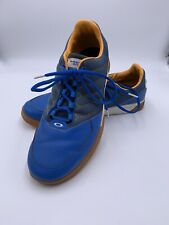 Oakley Blue Leather Casual Lace Up Spikeless Golf Sneakers Shoes Men's 11
