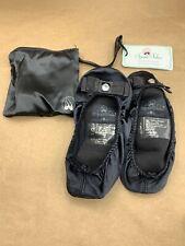 SPARE SOLES PORTABLE BALLERINA FLATS TRAVEL Small 5 - 6 Black NEW