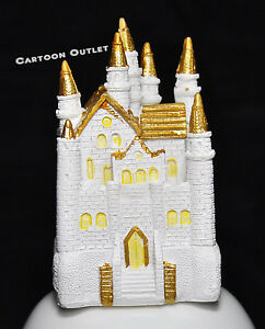 Wedding Princess Sweet 16 Cake Topper Birthday Party Quinceanera gold Castle