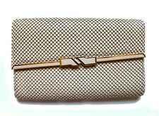 WOMEN'S VINTAGE CLUTCH METAL MESH FLAP BAG MAGNETIC SNAP CLOSURE HANDBAG PURSE