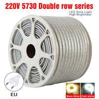 1M2M3M5M10M LED Strip Light 5730 120LEDS/M Flexible Tape Rope Waterproof SMD220V