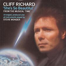 "CLIFF RICHARD - She's So Beautiful (UK 2 Tk 1985 7"" Single PS)"