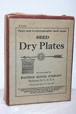 Antique Seed Dry Glass Plate Box by Kodak,  film vintage 3x4 photo camera