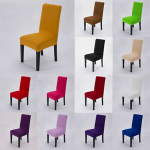 Spandex Stretch Banquet Chair Covers Seat Non-Slipcovers Dining Room Wedding