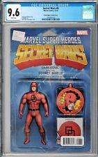 Secret Wars #6 CGC 9.6 (Dec 2015, Marvel) JTC Daredevil Action Figure variant