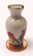 1:12 Scale 3.5cm Ceramic Cockerel Vase Tumdee Dolls House Ornament Flower C11g