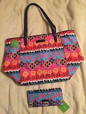 Vera Bradley Rio Stripe Breakaway Tote and Trifold Wallet - NWT