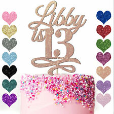 Personalised Happy Birthday Cake Topper Custom Cake Decoration 13th 16th 21st 30