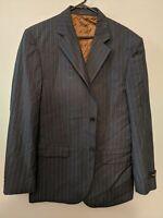 Muller's Men's Grey Pinstripe Size 42 Blazer Jacket