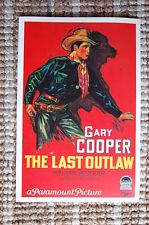 The Last Outlaw Lobby Card Movie Poster Western Gary Cooper Jack Luden Betty Jew