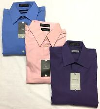 NWT  LOT OF 3 Mens X-Large Claiborne Button Down Long Sleeve Shirts, Retail $124