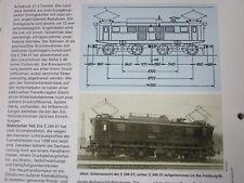Bahn Lokaufrisse E & Diesel DRG 73 E 244 01 Versuchslok Höllentalbahn 1936