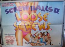 Cinema Poster: SCREWBALLS 2 LOOSE SCREWS 1985 (Quad) Bryan Genesse Alan Deveau