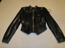 WOMENS AUTHENTIC MILWAUKEE MOTORCYCLE CLOTHING CO LEATHER JACKET SMALL FRINGE