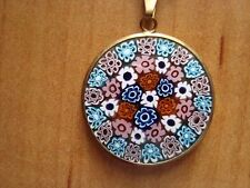 Le Murrine Veneziane Murano Glass Pendant Necklace With Gold Chain  NEW  Italy