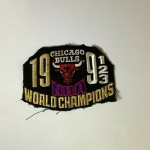 1993 Chicago Bulls NBA World Champions Original Hat Patch Three Peat 91 92 93