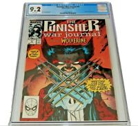 Punisher War Journal #6 CGC 9.2  NM-   Jim Lee Wolverine 1989 Marvel Comics