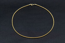 18K Gold Filled Stylish Italian Flexible 18ct GF Omega Necklace 46cm
