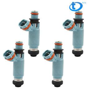 4 Pcs 440cc Light Blue Fuel Injectors Feed Fit For 2002-2005 Subaru WRX