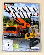 PC SPIEL BAUMASCHINEN SIMULATOR 2012 TOP ZUSTAND  --- KRAN BAGGER ABRISSBIRNE