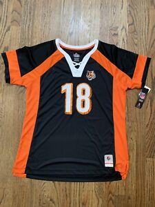 New NWT S/S A J Green Cincinnati Bengals Jersey Women's Size XXL 2XL AJ Shirt