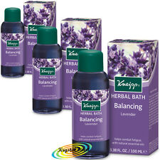 3x Kneipp Herbal Bath Oil Balancing Lavender 100ml With Natural Essential Oils