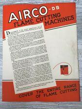 Vintage Airco Db Flame Cutting Machines Arc Welders Sales Brochure