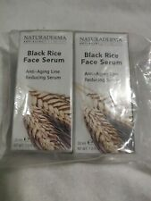 Naturaderma Black Rice Face Serum Anti-Aging Line Reducing Serum 1 oz (2 pack)
