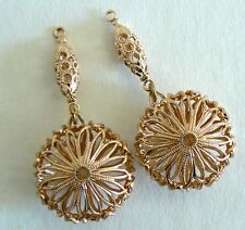 Filigree Vintage Beads From West Germany Light Weight Never Worn Earring Parts
