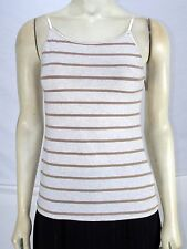 Wet Seal Beige Tan Brown Striped Sleeveless Camisole Juniors Size Large 11 13