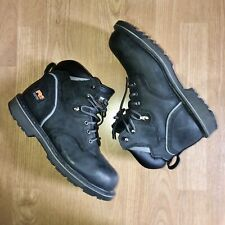 Timberland Men's Pro Series Steel Toe Black Leather Work Boots 10.5 M Pit Boss