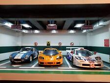 Autoart, GMP, BBR, Classic Carlectables  a 3 Car Diorama parking lot 1:18