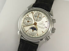 ETERNA MATIC 1948 COSC STEEL MOON PHASE TRIPLE CALENDAR 8515.41