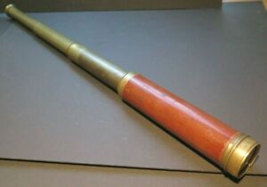 """antique 200 year old telescope by T. Harris, London 7 9/16' closed x 22.5"""" long"""