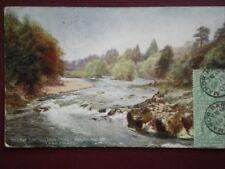 POSTCARD BRECONSHIRE LNWR BELOW THE SALMON POOL  BUILTH WELLS
