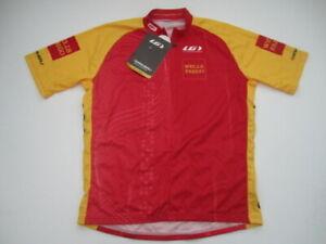 Mens Medium Wells Fargo Louis Garneau Raglan cycling jersey made in USA NWT