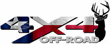 4x4 Off Road TEXAS Flag Deer Head TRUCK USA Decal/Sticker! CHEVY GMC DODGE FORD