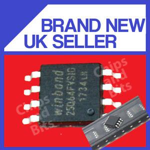 WINBOND 25Q64FVSIG SOP8 IC CHIP GENUINE / UK SELLER FAST POST