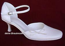 Gr.34, 35 Brautschuhe Hochzeitsschuhe creme ivory elfenbein 5 cm Absatz rund