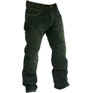 Hornee SA-M1 Relax Fit Bootcut Motorcycle Motorbike Black Denim Jeans Clearence