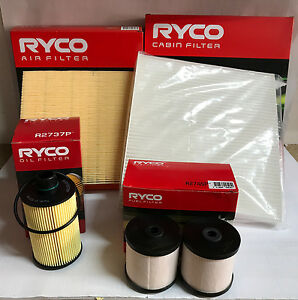 JEEP GRAND CHEROKEE WK 3.0L V6 DIESEL RYCO OIL AIR FUEL CABIN FILTERS 2014-->