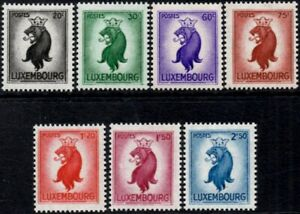 (Ref-15725) Luxembourg 1945-46 Lion of Luxembourg  SG.469/474 Mint (MNH)