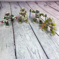 Teenage Mutant Ninja Turtles TMNT 2016 McDonalds 4 Piece Lot Action Figure Toys