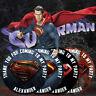 Personalizado Logotipo de Superman Pegatinas Fiesta Cumpleaños Gracias Caramelo