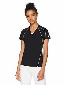 ASICS Unisex Jr. Upcourt Short Sleeve Jersey, Black/Black, Medium