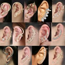 Charm Crystal Clip Ear Cuff Stud Women's Punk Wrap Cartilage Earring Jewellery