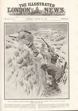 1918  ANTIQUE PRINT WW1 - BRITISH TROOPS IN SNOW CAMOUFLAGE